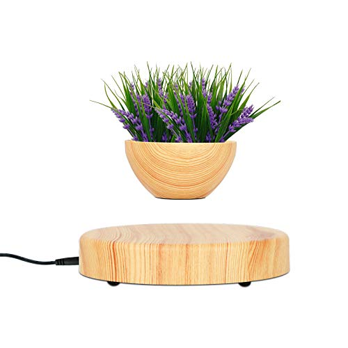 Trycooling Levitating Air Plant Pot Small Decorative Flower Pot Resin Floating Bonsai Pot for Office Home Decor (Not Include Plant)