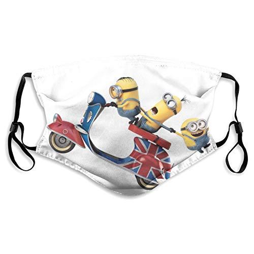 Máscaras protectoras de moda de los Minions de color amarillo, ideales para camisas unisex, antipolvo, lavables y reutilizables.