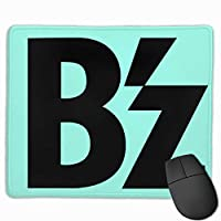 B'z Logo マウスパッド 多用途の 耐久性が良い 防水 滑り止めゴム底 ゲーム オフィス マウスパッド 25CM*30CM