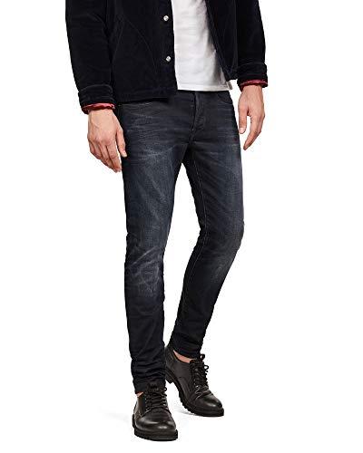 G-STAR RAW Herren Jeans 3301, Schwarz (Dark Aged), 33/38