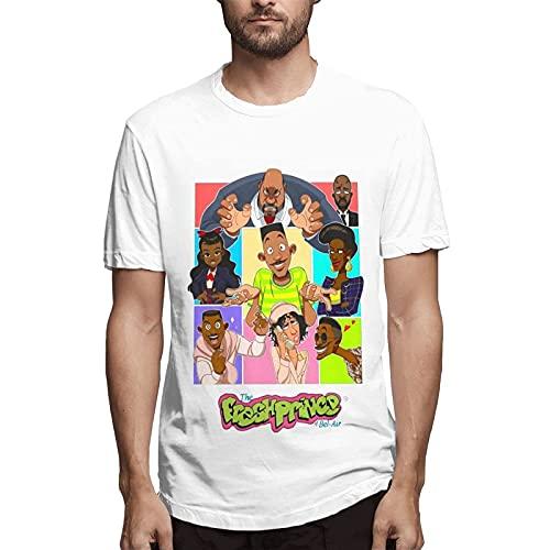The Fresh Prince of Bel-Air Camiseta Casual de Verano de Moda para Hombre Camiseta de Manga Corta con Cuello Redondo para Hombre