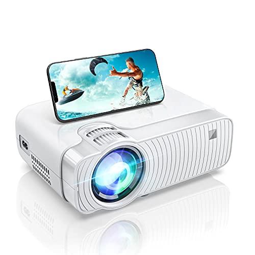 BOWMAKER TECH Proiettore WiFi con Supporto Full HD 1080P, 6000 Lumen Mini Proiettore Home Theatre Portatile, Compatibile con iPhone, Android, TV Stick, PS5