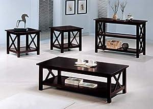 Briarcliff 3-piece Occasional Table Set Dark Merlot