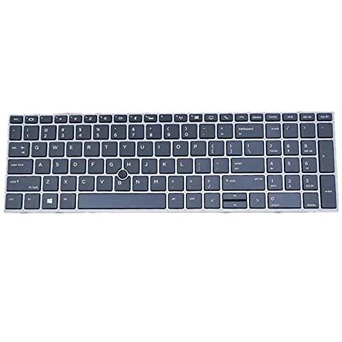F-Mingnian-rsg Teclado para portátil Compatible con HP ZBook 17 G6 Negro Edición Estados Unidos.