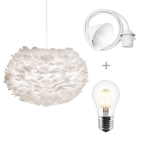 Umage/VITA Eos medium Hängeleuchte für A++ bis E inkl. Kabel, Fassung und Umage/VITA LED A+ weiss 45 x 45 x 30 cm Lampe