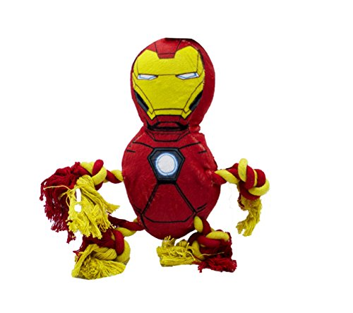 Marvel Comics for Pets Marvel Comics Iron Man Rope Knot Buddy For Dogs   Super Hero Toys For All Dogs and Puppies