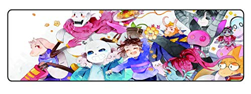 Funky Store Large Sans Large Extended Gaming Mouse Pad Mat, Stitched Edges, Ultra Thick 3 mm, Wide & Long Mousepad 31.5' x 11.8' x 0.12' for Undert