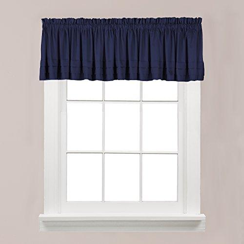 "SKL Home by Saturday Knight Ltd. Holden Curtain Tier Pair, 58"" x 13"", Navy"