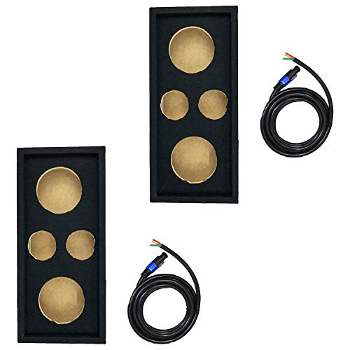 """Q Power Car Audio Subwoofer Box Chuchero for 10"""" Mids and 3"""" Tweeters (2 Pack)"""