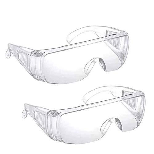 Gafas de Seguridad antivaho,2 Unidades,protección Ocular,Anti-Niebla,Arena,Polvo,para Bricolaje,aboratorio,Soldadura,molienda,Ciclismo