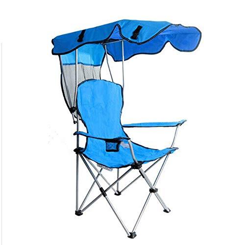 LKJCZ Silla Plegable Silla de Camping, Ultra Liviana con Asiento de Patio Exterior Asiento de Respaldo portátil, Puede acomodar 150 KG Playa/Senderismo/Barbacoa/Camping, Azul