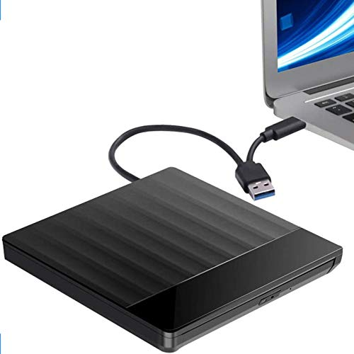 External CD DVD Drive,USB 3.0 and USB C Port High Speed Data Transfer Portable CD DVD +/-RW Drive Slim DVD/CD ROM Burner Writer Re-writer Compatible with Laptop Desktop Windows/Mac OS/Linux