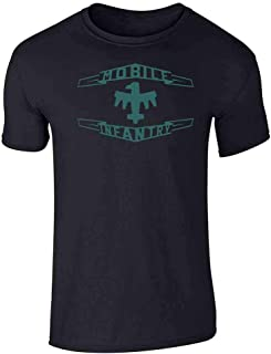 Terran Federation Mobile Infantry Flag Graphic Tee T-Shirt for Men
