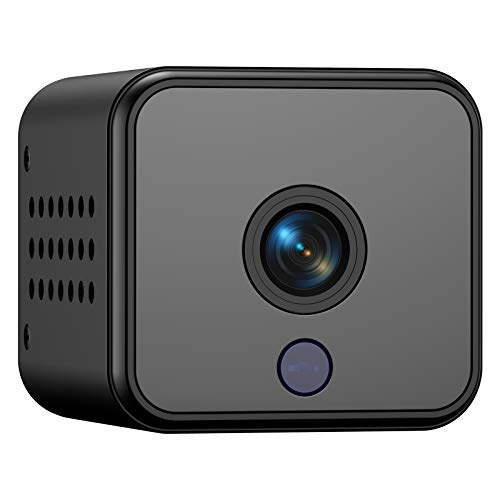 Mini cámara, Mini cámaras portátiles FHD 1080P con visión Nocturna para el hogar y la Oficina
