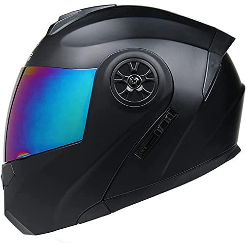 Casco de Moto Modular,Homologado ECE/DOT Cascos Integrales de Moto,Casco de Motocross Doble Visera Casco de Moto Hombre Modular Casco Moto para Mujer e Hombre H1,M=57~58CM