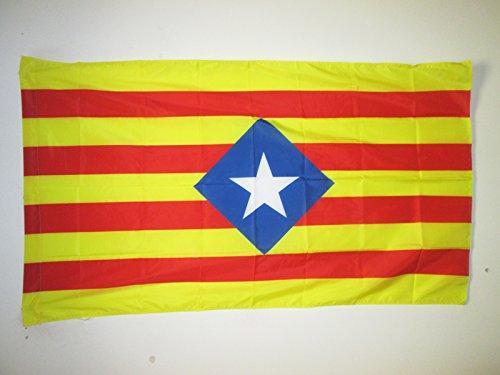AZ FLAG Flagge KATALONIEN ESTELADA BLAVA ALT 150x90cm - AUTONOMEN KATALANISCHEN Fahne 90 x 150 cm Scheide für Mast - flaggen Top Qualität