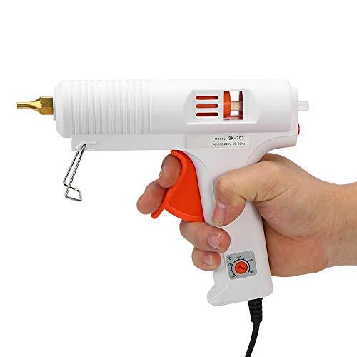 Jacksking Klebepistole, DIY 110 Watt Professionelle Einstellbare Konstante Temperatur Heizung Heißklebepistole Handwerk Repair Tool(EU)