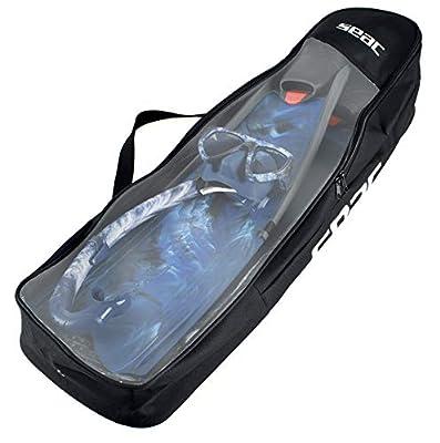 SEAC Apnea, Backpack Shoulder Bag for Long Fins and Other Freediving Equipment, 95x21x16 cm, Black
