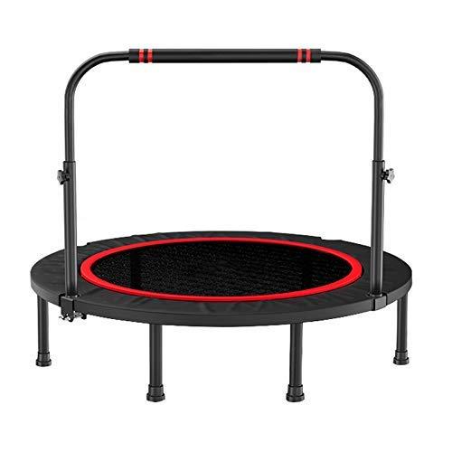 JHUEN 40/48 Pulgadas Deportivo Fitness Trampoline Rebounder con pasamanos Ajustable, para Interiores y jardín/Gimnasio/Fitness trampolín, Capacidad de Peso: 300kg
