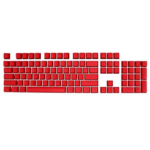 Verliked Chiave Tappi Retroilluminazione Tastiera Accessorio ABS Universale OEM Keycaps Sostituzione 104Pcs Rosso
