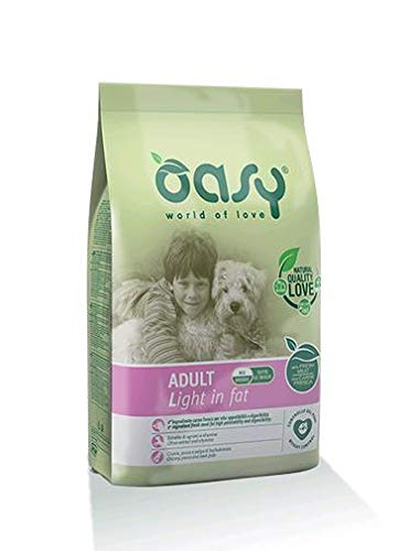 Oasy Alimento Secco per Cane Adult Light in Fat 12kg-Mangimi secchi per Cani, Multicolore, Unica