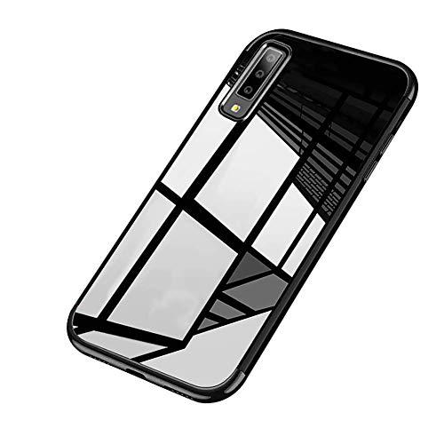 Galaxy A7 2018 Hülle,Galaxy A7 2018 Silikon Hülle,Surakey Schutzhülle Galaxy A7 2018 Kratzfeste Plating TPU Bumper Case [Ultra Slim] Silikonhülle Tasche mit Überzug Farbig Rahmen Hülle, Ultra Dünn C