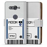 DeinDesign Étui Compatible avec Sony Xperia XZ2 Compact Étui Folio Étui magnétique NASA Billet...