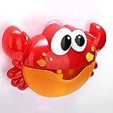 Rishx-toy Creativa de Dibujos Animados baño de los Cabritos Cangrejo en Forma de Burbuja Fabricante con Canciones Automatic Baby Kids Los niños Divertidos alegría Burbuja Juguete Ducha eléctrica baño