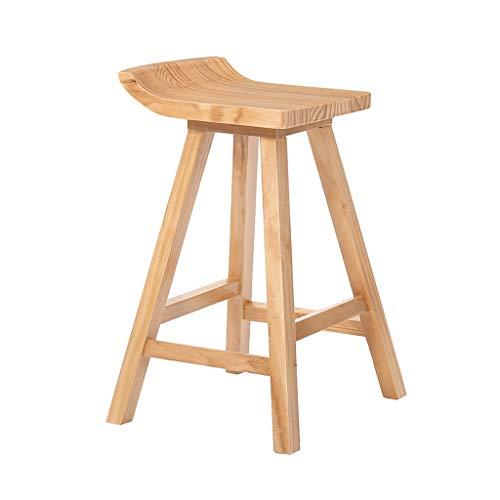Robuuste barkruk van massief hout, eettafel en vrijetijdsstoel.