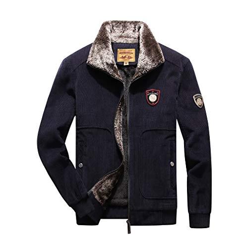 ღJiaMeng Weisewasserdichter Schnell Trocknender Sweatshirts Herren Mode Freizeit Sweatjacke Herbst und Winter Warm Halten Mantel