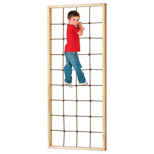 Kletternetz mit Rahmen Klettergerüst Kletterwand Kinder Kindergarten, 180x36 cm