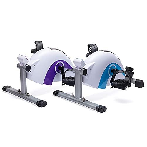 GAXQFEI Mini Magetron Fitness Entrenador Elíptico, Ejercicio de Mute Mute Paso Paso a Paso, Máquina Elíptica, Ajuste de Resistencia de 8 Niveles, Fitness Fitness Ejercicios Equipos con Rueda de Frent