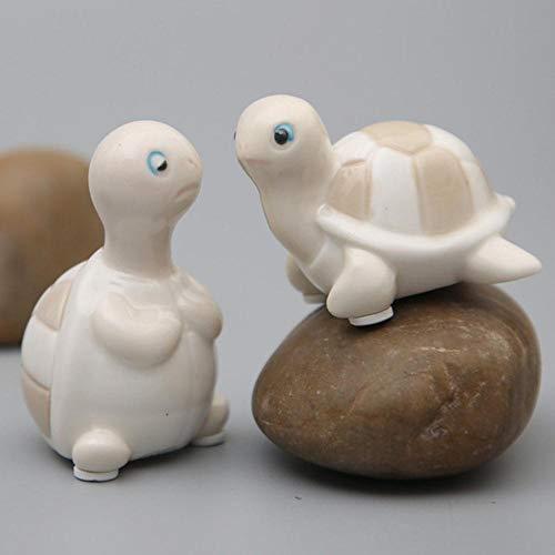 ZTGZMH Adorno de decoración Mini Lindos Adornos de Tortuga de cerámica Creativo de cerámica de Dibujos Animados Modelo de Tortuga Manualidades Muebles para el hogar pecera decoración Regalos, Tortuga