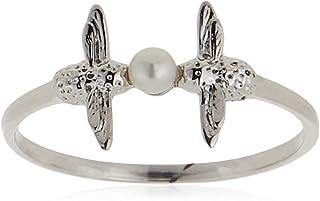 خاتم لؤلؤ بشكل نحلة للنساء من اوليفيا بيرتون - OBJAMR13L