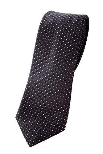 Emporio Armani Herren Krawatte 100{c91968b0cf819e3ff89070586b4daa7736c539cf984a7cc5719d53ebb2803527} Seide (Black)