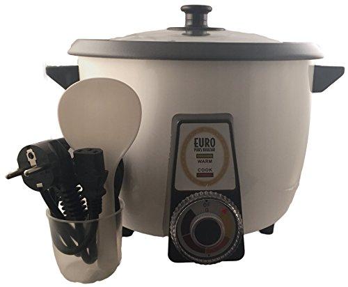 Vollautomatischer Reiskocher speziell für Reiskruste oder Reiskuchen Tadig Tahdig geeignet (4-8 Personen, Weiß)