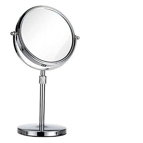 XIAOLE Miroir de beauté télescopique Double Face HD Princesse Miroir Hauteur réglable Maquillage Simple Miroir Vanité Rétroviseurs cosmétiques Rétroviseur,8 Pouces Double Plan 20 * 38cm