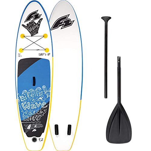 F2 Inflatable Surfs Kids 9\'2\'\' Kinder-Stand Up Paddle Board Set 800274 White/Blue - 280 cm
