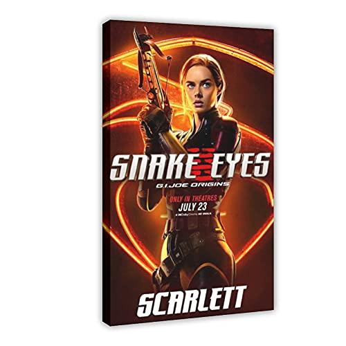 Action Movie Snake Eyes G.I. Joe Origins 9 poster su tela da parete, decorazione per soggiorno, camera da letto, 60 x 90 cm
