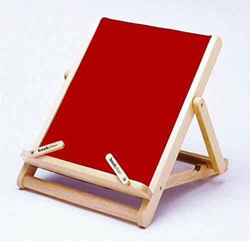 DECK BOOKCHAIR STRIPY RED WOOD