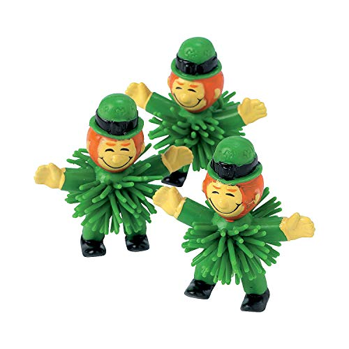 Fun Express Leprechaun Porcupine Character Toys for St. Patrick's Day - 12 Pieces