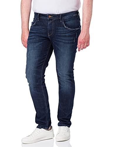 TOM TAILOR Denim Herren 1026641 Culver Skinny Jeans, 10120-Used Dark Stone Blue, 28W / 32L