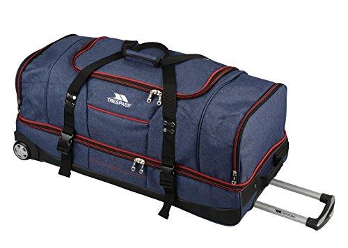 Trespass Galaxy - Bolsa de deporte y de viaje de dos pisos con ruedas Azul azul / rojo 82cm