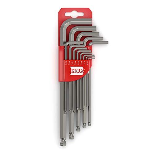 INBUS® 70433 Inbusschlüssel Set (Zoll) 13tlg, 0.05–3/8