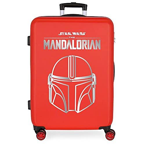 Star Wars Legend Maleta Mediana Roja 48x68x26 cms Rígida ABS Cierre de combinación Lateral 70L 3 kgs 4 Ruedas Dobles