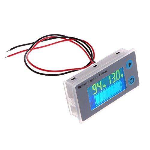 siwetg 10-100V Indicador De Plomo-ácido del LCD del Probador del Voltímetro De La...