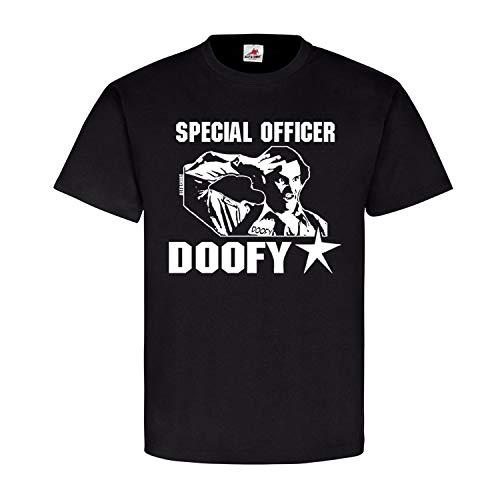 Special Officer Doofy Gilmore Mongo Film Kult Polizei Ghostface T Shirt #20072, Größe:L, Farbe:Schwarz