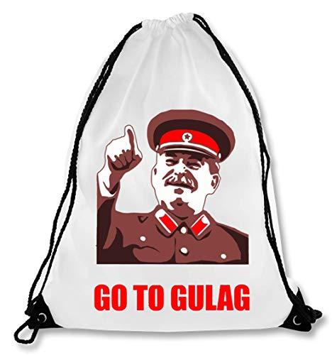 Go to Gulag Meme Bolsa con cordón