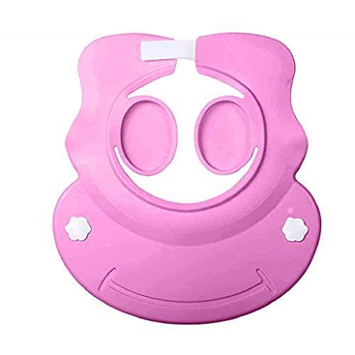 clacce Kinder Duschkappe Shampoo Schutz für Babys, Haare waschen zum Überstülpen, 100% wasserdicht I weiche Silikonhaut, Augenschutz und Ohrenschutz, Haarwaschhilfe, Kinder Duschkappe