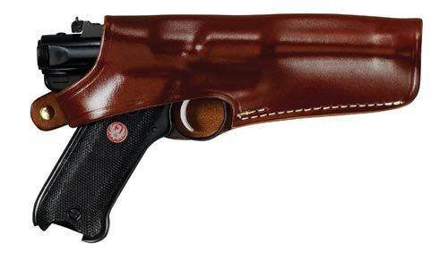 Triple K Carrylite Holster for Ruger MK I, II, III with 6.8-Inch Barrel, Walnut Oil, Right